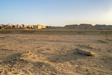 Release of new buildings in the desert of the new city of Hurghada in Egypt 스톡 콘텐츠