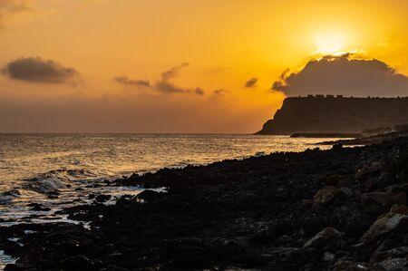 Sunrise at Sissi, Crete. Sunrise over the sea at Sissi on the north coast of the Island of Crete, Greece