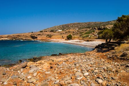 View of the beach of kato selles in the north east of the island of Crete.Grece