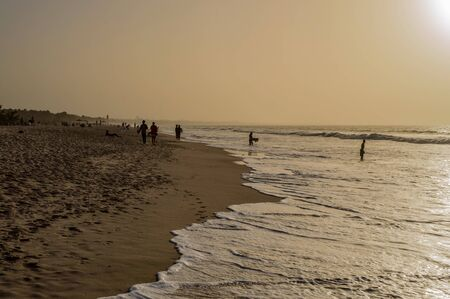 Beautiful long sandy beach in The Gambia, Bijilo near Serrekunda