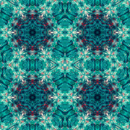 Seamless abstract pattern, symmetrical, intricate and colorful