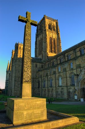 durham: Durham Cathedral at sunset Stock Photo