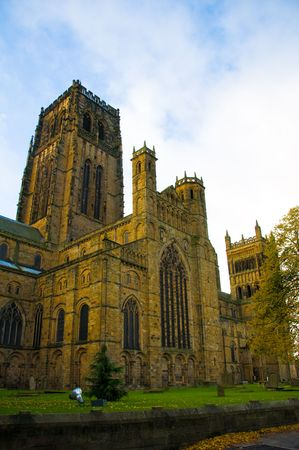 durham: durham cathedral on an autumn morning
