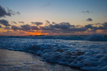 Sunset North Sea beach