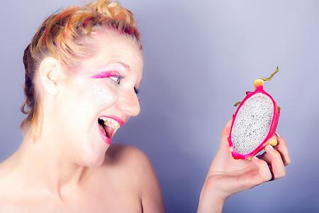 meets: Models with a special MakeUp meets dragon fruit