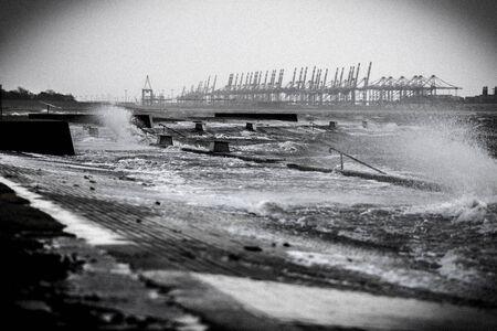 storm tide: Storm tide North Sea Germany
