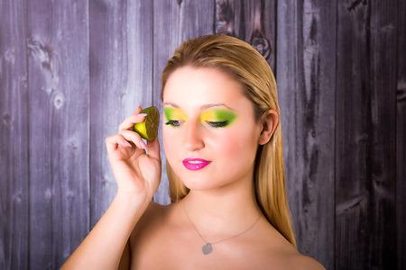 meets: Model meets a juicy lime