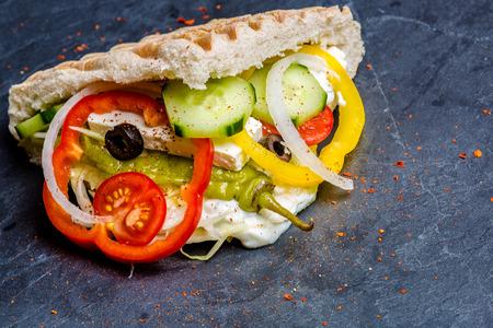 Doner Kebab gefüllt Standard-Bild - 43625331