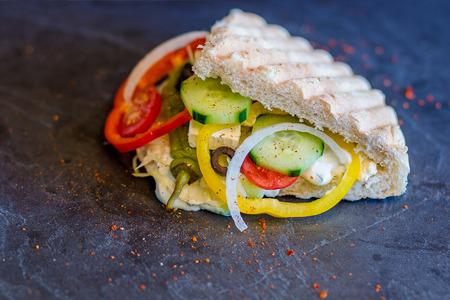 Doner Kebab gefüllt Standard-Bild - 43625334