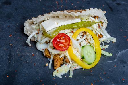 Doner Kebab gefüllt Standard-Bild - 43625336
