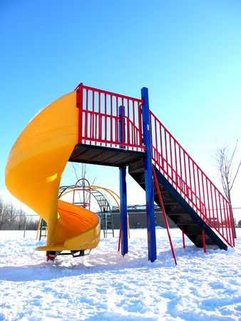 Empty children's playground Stock Photo - 2189915