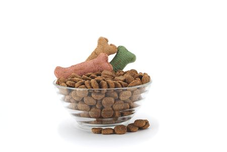 dry dog food dish with teats