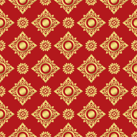 line thai: Vector illustration of line thai pattern background Illustration