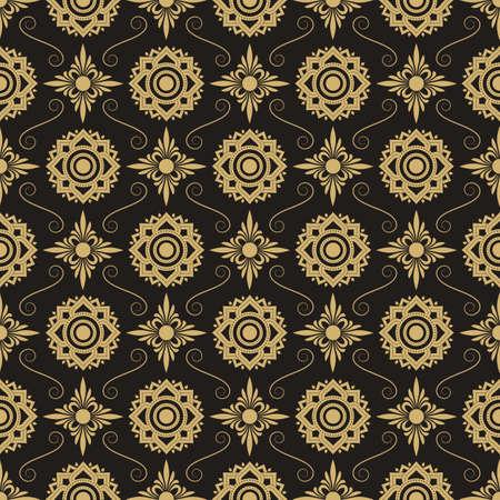 thai silk: Asian Art  Abstract Background, Vector Illustration.