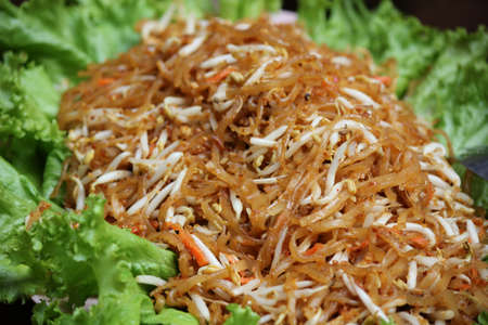 Thailand s national dishes,  Pad thai , Fired noodle Stock Photo - 17908558