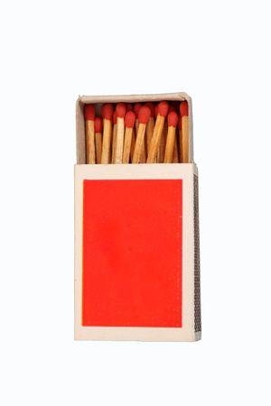 matchbox: red matchbox Stock Photo