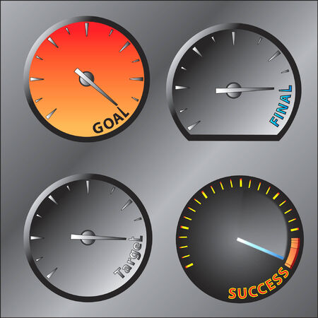 achieved: the speed meter of success Illustration