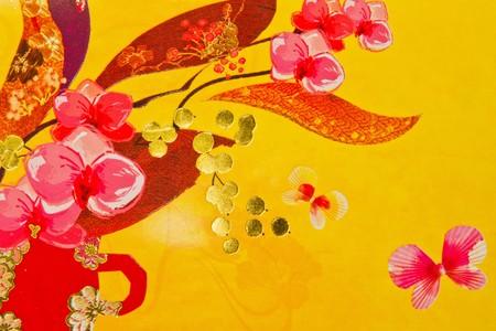 flores chinas: patrones de chinos  Foto de archivo