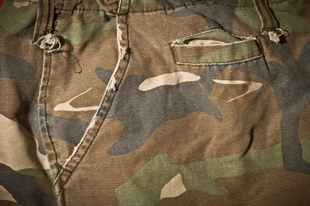 camouflage pattern trousers  photo