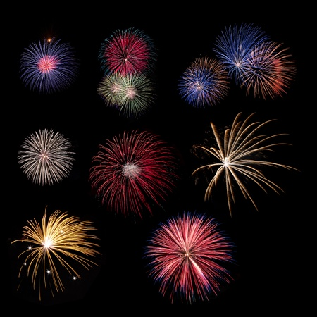 Fireworks collection Stock Photo - 8481257