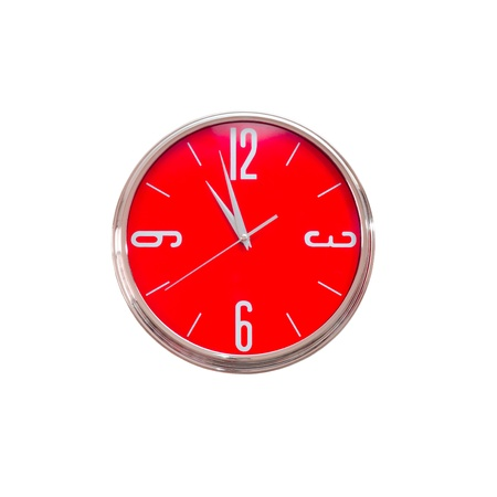 lady clock: Red clock  Stock Photo