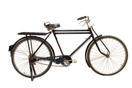 bicicleta retro: Vieja bicicleta  Foto de archivo