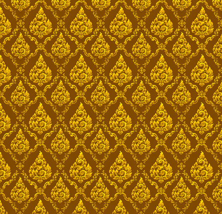 Images artistic of traditional gold line thai background