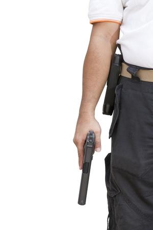 Hand hold guns photo