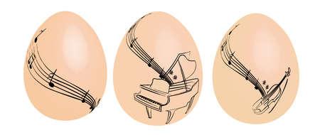 Easter egg music Stock Vector - 9098075