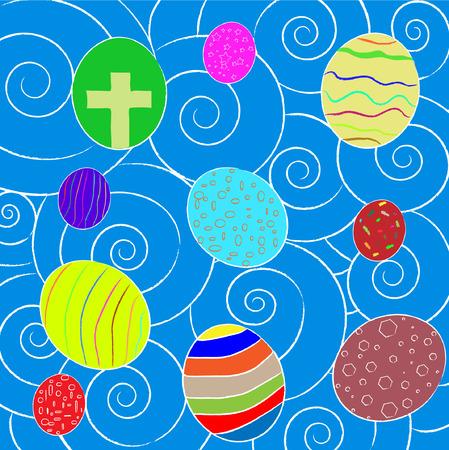 Paint easter egg Vector