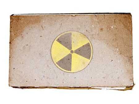 Radiation symbol on old book Stock Photo - 9098085