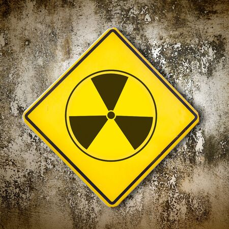 Old sign radiation on wall Stock Photo - 9098097