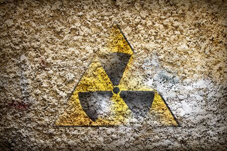 Old sign radiation on wall Stock Photo - 9163732