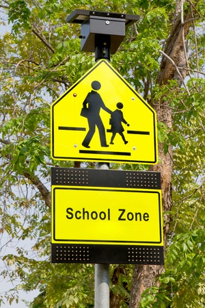 School zone signs  photo
