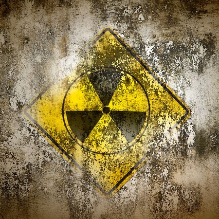 Old sign radiation on wall Stock Photo - 9163764