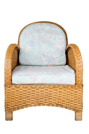 Wicker chair photo