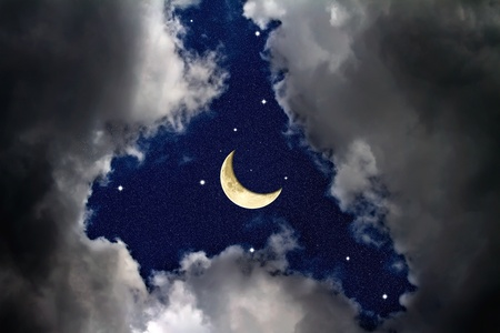 The sky at night Stock Photo - 9525424