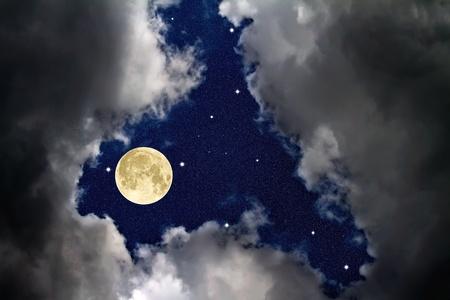 The sky at night Stock Photo - 9525415