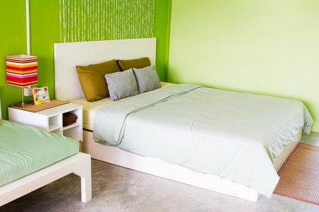 Bedroom green Stock Photo - 9584801