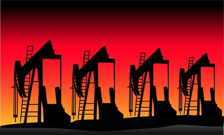 pumper: oil pumper with the sunset background