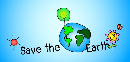 Save the earth concept Stock Vector - 9769637