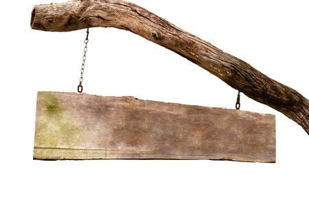 wooden plaque: Old wooden sign