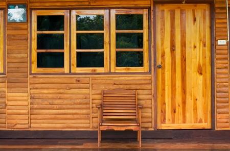 Chair wood  photo