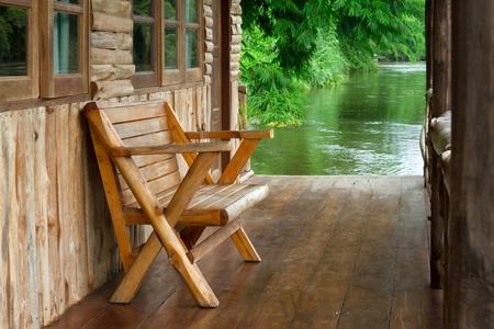 adirondack chair: Chair wood  Stock Photo