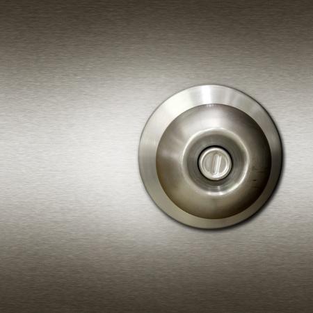 front entry: Aluminum knob