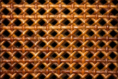 grass weave: Old wall basket