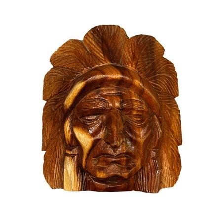 totem indien: Sculpture sur bois rouge indien