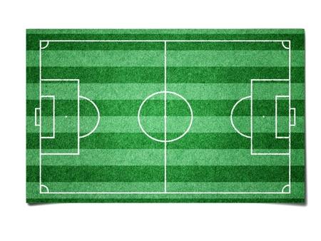 Fútbol de campo del papel Foto de archivo - 10742565