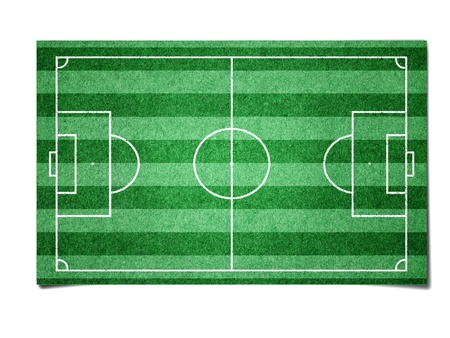 Soccer field paper  Stock Photo - 10742565