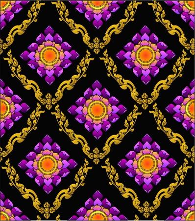 art and craft equipment: el patr�n de flor de loto tailandesa moderna sytle